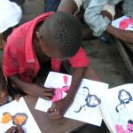 Kids at work coloring