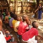 Mylene conducting Children's Rights activity in Kikimi