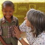 Clotilde praying for Djems healing