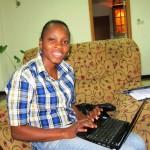 Thanks to Espoir Congo, Huguette is receiving secretarial training