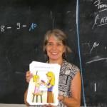 Clotilde teaching Bible verses to the kids