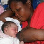 New baby born in Kikimi in makeshift maternity