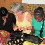 Clotilde gives Huguette and Jessica secretarial classes