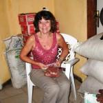 Mylène preparing food packages for Kikimi orphans