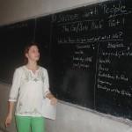 Natalie teaching at UPN university