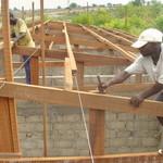 Building roof of primary school