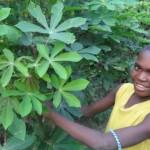 Orphaned boy with his garden