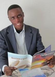Cedric reading Activated magazine
