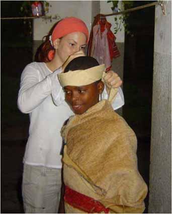 Drama activities at Kimbondo orphanage