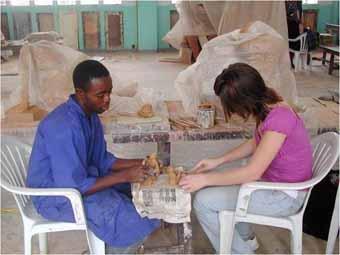 Sculpture class at Beaux-Arts of Kinshasa
