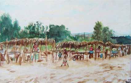 Little Kikimi Market—watercolor