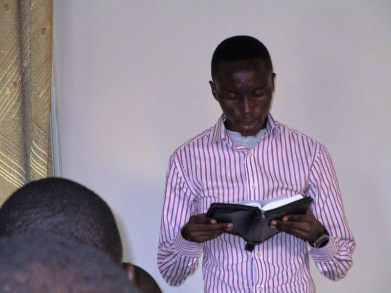 Cedric preaching