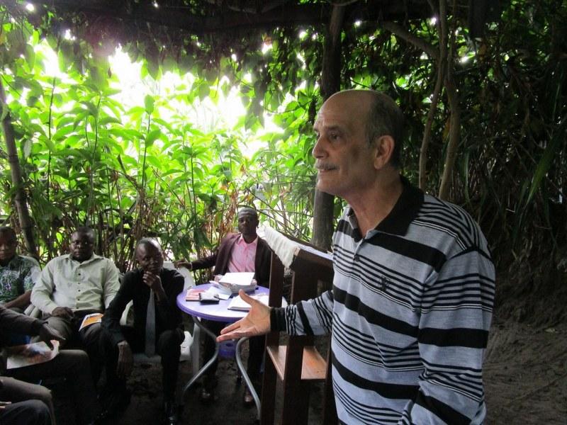 Gino teaching students in Massina