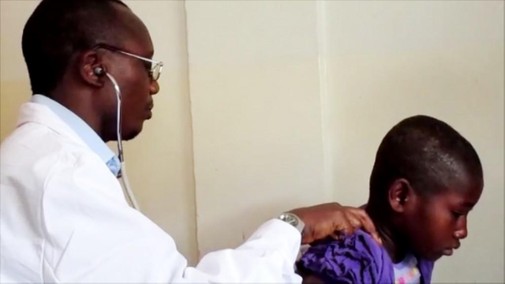 Consultation of ill girl