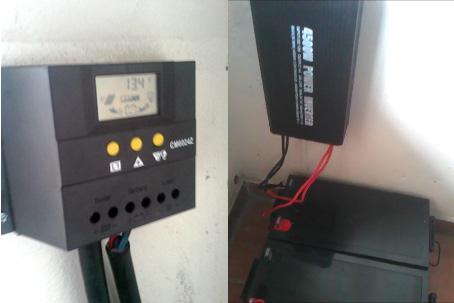 Regulator, inverter and batteries for solar panels