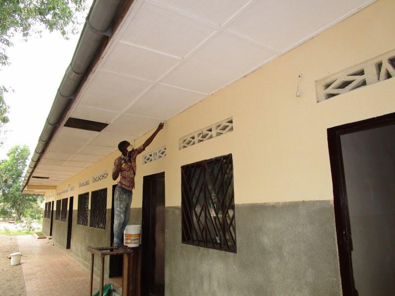 Repainting outside of schools.