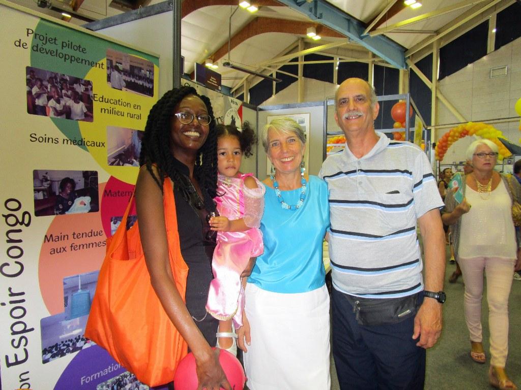 With Kenyan Velda and daughter Inaya.