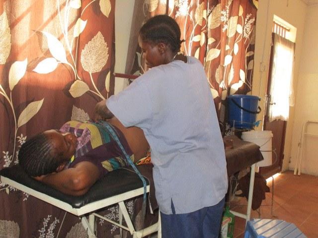 Prenatal check-up.