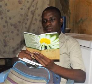Distributing devotional booklets